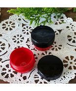 12 Cute Mini RED .25oz Black Cap Wax Container Balm stash waxtkdecojars - $21.78