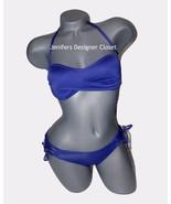 NWT VITAMIN A XS 4 swimsuit bikini 2PC purple lace-up sides and back str... - $111.55