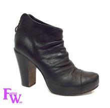 FIORENTINI + BAKER Size 7 Black Leather Platfor... - $139.00
