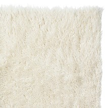 Super Area Rugs Hand-Woven Soft Wool Flokati Shag Rug 4 Feet by 6 Feet 4... - $139.41