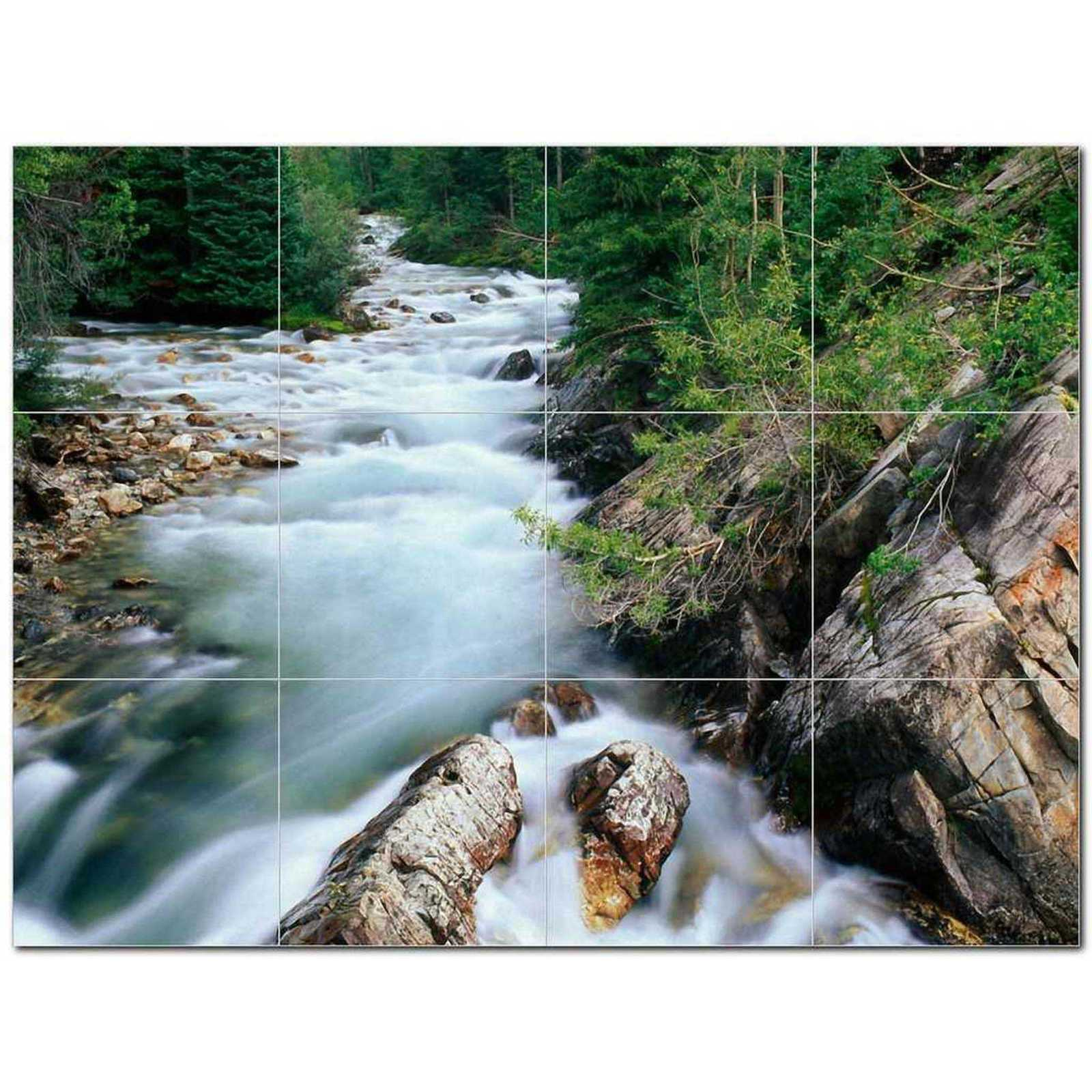 Primary image for River Picture Ceramic Tile Mural Kitchen Backsplash Bathroom Shower BAZ405741