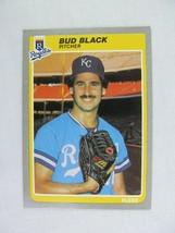 Bud Black Kansas City Royals 1985 Fleer Baseball Card Number 198 - $0.98