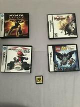 Lot of 5 Nintendo DS Games Kingdom Hearts Mariokart Ninja Gaiden Leto Batman CIB - $45.59