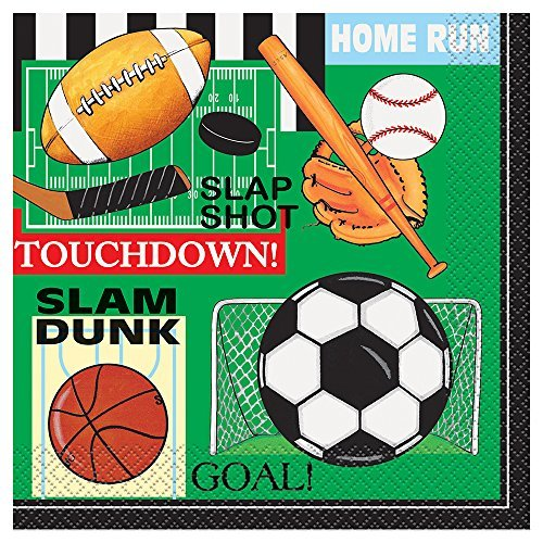 Classic Sports Party Napkins, 16ct