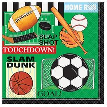 Classic Sports Party Napkins, 16ct image 1