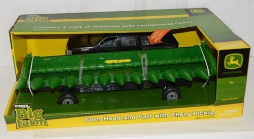 John Deere TBEK46298 Big Farm Corn Head Cart Chevy Pickup