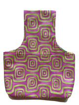 Yarn Bag Organizer Project Bag Tote Knitting Crochet PINK Drapery FABRIC... - $12.99