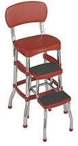 Cosco Retro Counter Chair/Step Stool, Red - $70.01