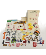 52 Vintage Embroidered Appliques Assorted Lot Sew On Animals Bird Christ... - $24.99