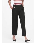 Banana Republic Slim Wide-Leg Crop Pant, Black, Poly Blend, Ins 25, Size... - $89.99