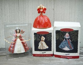 Lot 4 Hallmark Keepsake Ornaments Holiday Barbie Collectors Series 1993 ... - $27.99
