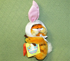 "11"" Easter Bunny Garfield 1981 Vintage Plush Here Rabbit Carrot Stick Hang Tag - $24.75"