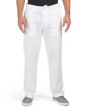 Perry Ellis Linen Cotton Drawstirng pant Size  W34 X L30 - $69.29