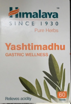 Yashtimadhu Gastric Wellness acidity relief Himalaya 60 Tablet - $17.29