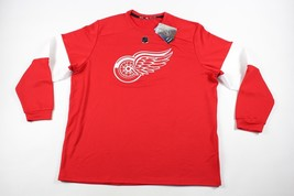 New Adidas Mens 2XL XXL Detroit Red Wings NHL Hockey Jersey Tee Shirt Re... - €79,05 EUR