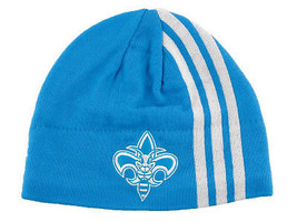 ADIDAS THREE STRIPE AUTHENTIC  NBA BASKETBALL KNIT HAT - NEW ORLEANS HOR... - £12.10 GBP