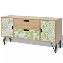 vidaXL Sideboard MDF Vintage Brown Side Cabinet Highboard Hall Console T... - $113.99