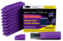 Better Tools Carpet Blades - 3G Extreme Square End - Box of 100 Blades - $14.99