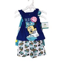 DISNEY MINNIE MOUSE 3 PIECES SET 12-24 MONTHS (24 MONTHS, BLUE/AQUA) - $14.69