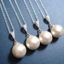 Pearl Bridesmaid Necklace - Matching Gift Set - $30.00+