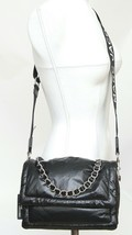 MARC JACOBS Bag Crossbody THE PILLOW Black Leather Chain Strap Flap - $475.00