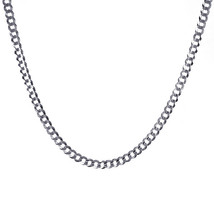 "Mens 14K White Gold Cuban Curb Chain 24"" Inches - $796.95"