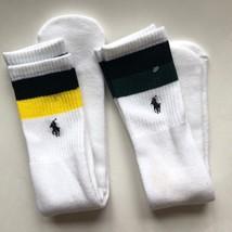 Polo Ralph Lauren Mens 2 Pair of Tube Crew Super Soft Socks White YG One... - $10.75