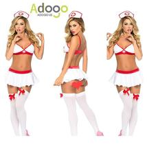 Sexy Lingerie Nurse Costume Outfit Set Nurse Cosplay Free Size image 3