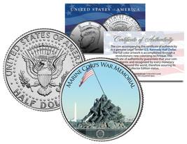 MARINE CORPS WAR MEMORIAL * Washington D.C. * JFK Half Dollar U.S. Coin ... - $8.56