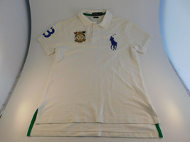 Polo Ralph Lauren Custom Fit Shirt Men's Medium White Short Sleeve Big Pony - $24.74