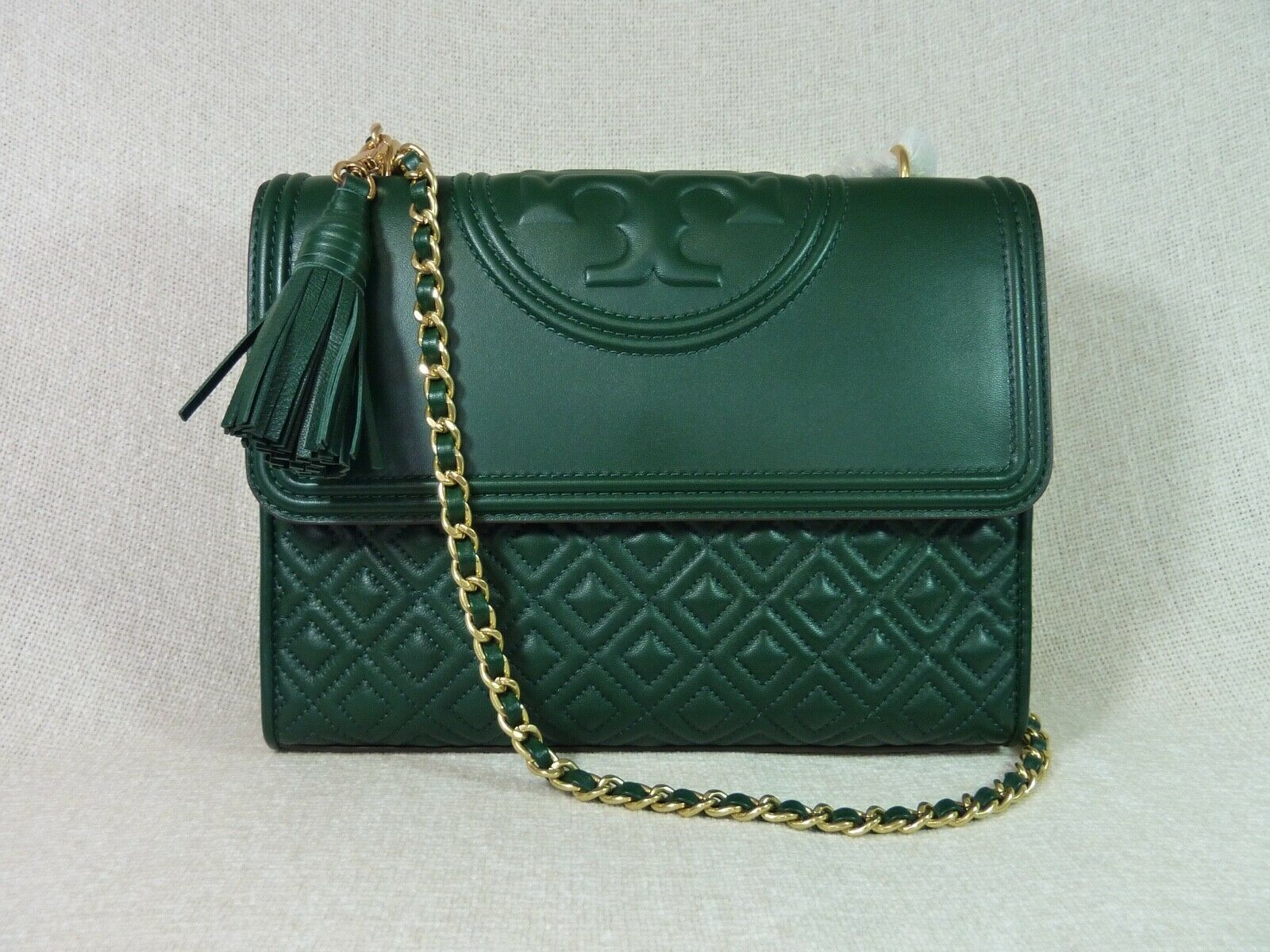 NWT Tory Burch Norwood Leather Fleming Convertible Bag $498 image 1