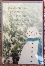 "16 Christmas Cards & Envelopes American Greetings 5""x 7.5"" New Helen Ste... - $4.50"