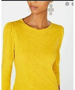 INC International Concepts  Puff-Sleeve Top,POLISHED GOLD SIZE LARGE - $12.38