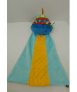 Manhattan toy company plush baby security blanket alien space ship blue ... - $26.72