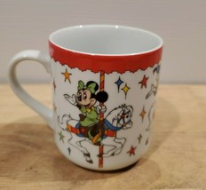 Vtg Disney World Disneyland MICKEY MOUSE Carousel Merry go round Mug Cof... - $5.94
