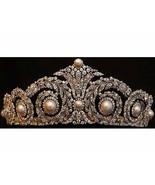 Victorian Inspired 13.85Ctw Rose Cut Diamond Sterling Silver Wedding Tia... - $1,975.32