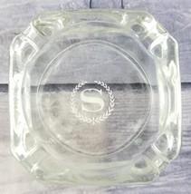 "Sheraton Hotel Logo Vintage Advertising Square Glass Ashtray - 3.75"" x 3.5"" - $7.91"