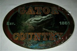 """Gator Country 1861 Rivers Edge Products Tin Sign Size 12""""x17"""" Florida Lo... - $9.85"""