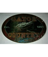 "Gator Country 1861 Rivers Edge Products Tin Sign Size 12""x17"" Florida Lo... - $9.85"