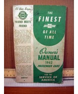 Owner's Manual 1942 Passenger Cars Chevrolet Motor Division, Second Edition - $8.99