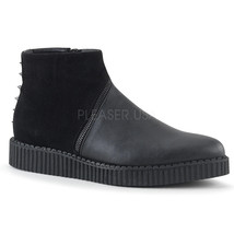Boots Creeper Ankle Platform Men's Punk Black DEMONIA Toe Studs Gothic Pointed vYgwO