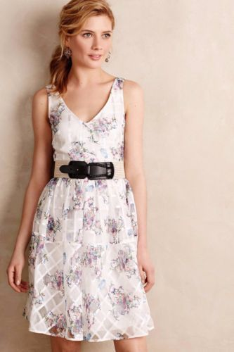 NWT ANTHROPOLOGIE PEONY GARDEN FLORAL PRINT DRESS by MAEVE