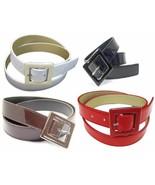 Patent Leather Cinch Belt Enamel Buckle Fashion Casual Gloss Dress Offic... - $12.88