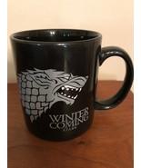 Game of Thrones Coffee Mug Winter Is Coming Stark Direwolf Sigil Ceramic... - $6.99
