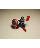 Super Hero Squad Captain America Rare Dark Blue Avenger Marvel  2011 - $4.99