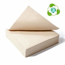 Recycled Post Consumer Napkins, Compostable Biodegradable Unbleached Eco... - $10.82