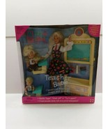 Blonde Teacher Barbie Doll Set #13914 New Never Removed from Box 1995 - $20.89