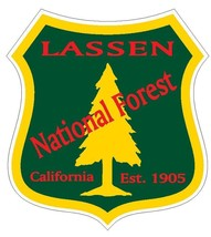 Lassen National Forest Sticker R3264 California You Choose Size - $1.45+