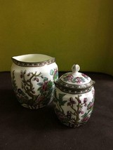 VINTAGE Coalport CHINA Indian SUMMER Pattern SET OF 2 Creamers SMALL Lid... - $71.27