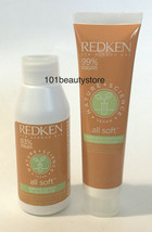 REDKEN Nature + Science All Soft Shampoo & Conditioner Travel Size***NEW*** - $10.89